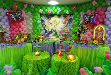 Tinker bell theme party in delhi, gurgaon, noida, faridabad