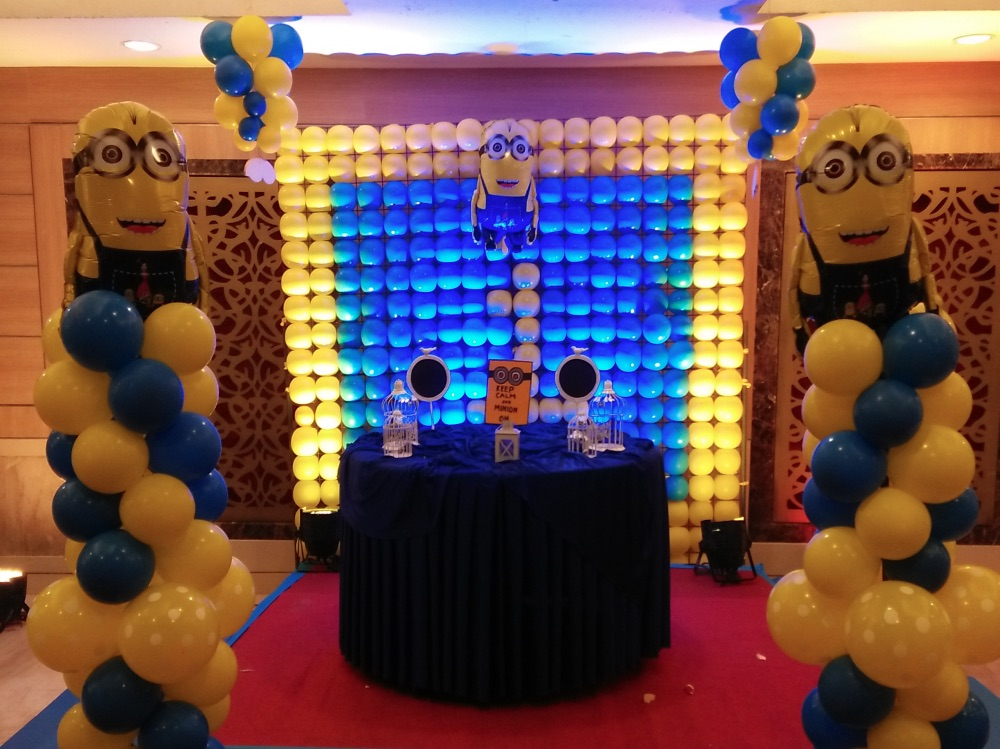 Best minion theme party planner in Delhi, Gurgaon, minion party organizer in delhi and gurgaon