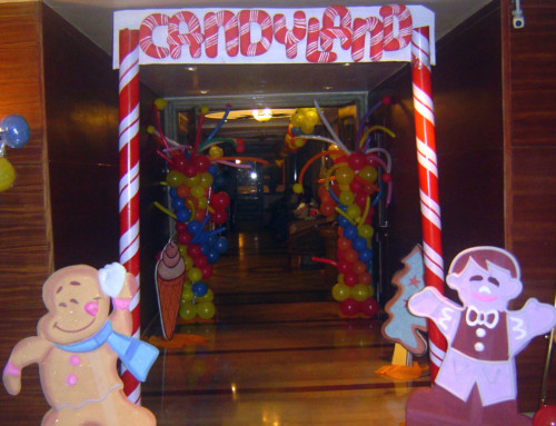 Birthday decoration with candyland theme