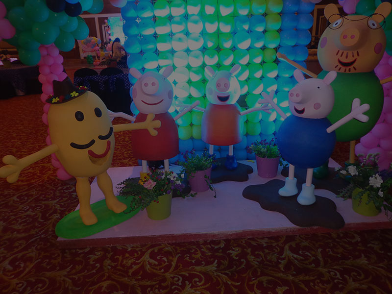 Peppa pig theme party decoration