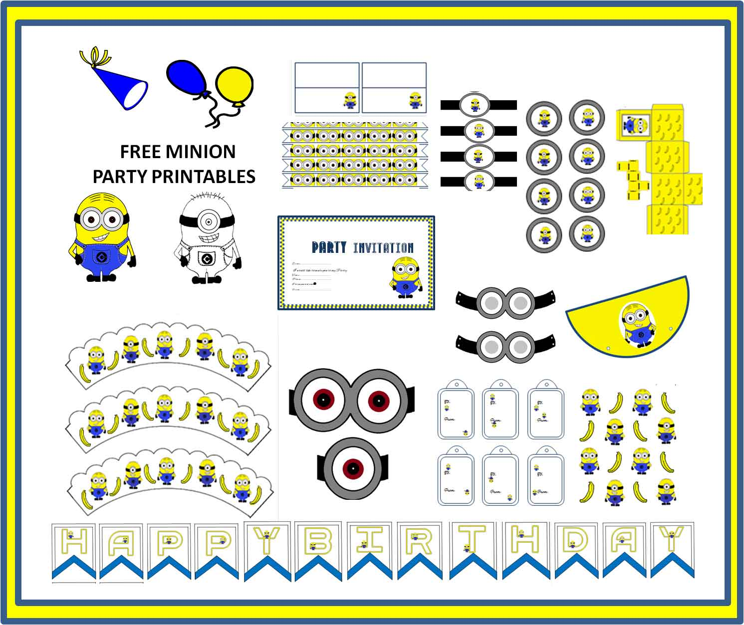 picture about Minion Symbol Printable referred to as minion-occasion-printable - Least difficult Concept Occasion Planner Birthday