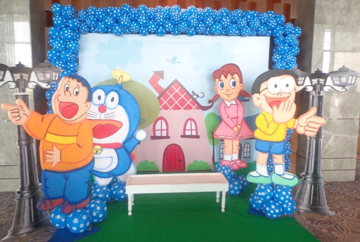 Doraemon theme party planner in Delhi and Gurgaon