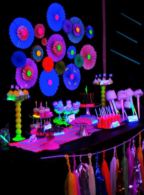 Black Night theme party | Neon theme party in Delhi, Gurgaon, Noida and Faridabad
