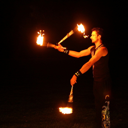 Hire fire juggler for birthday parties and corporate events