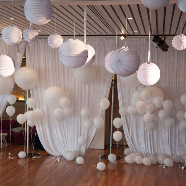 christmas theme decoration with paper ball