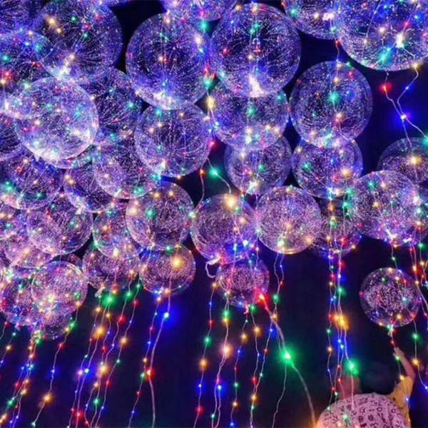christmas theme party led lights balloon deocration ideas