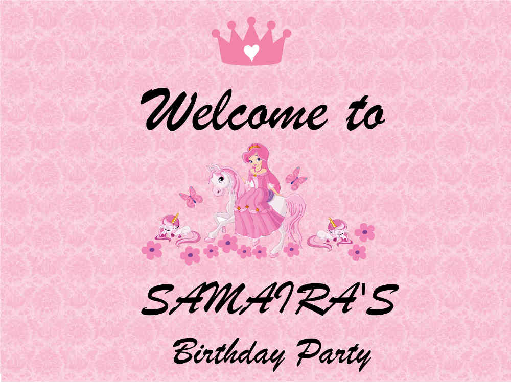 Welcome board for birthday parties in Delhi, Gurgaon, Faridabad and Noida