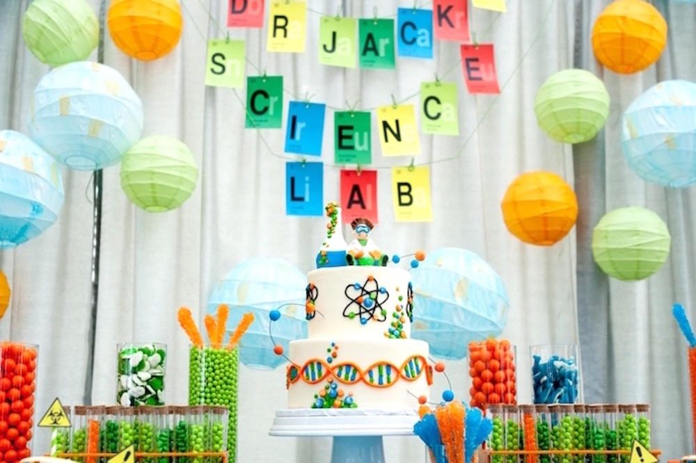 Mad Scientist birthday party ideas and decorators