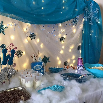 theme party ideas for girls, frozne theme party planner