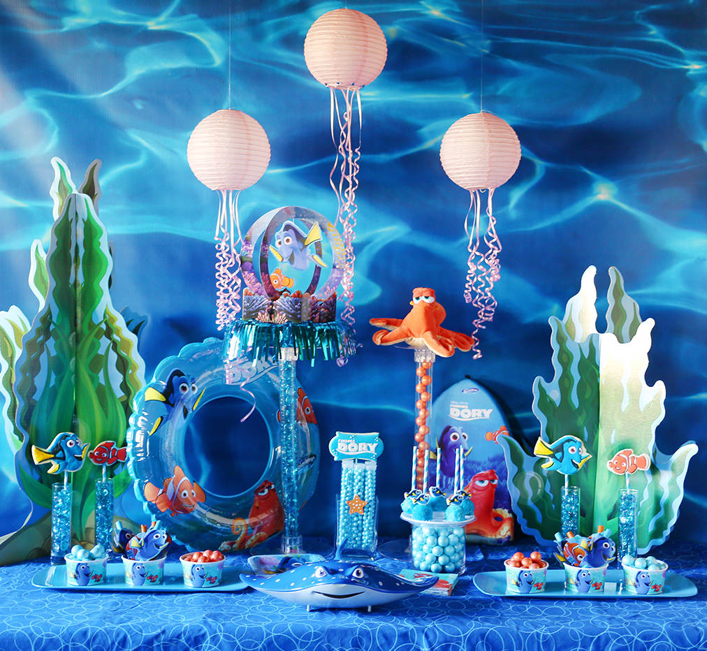 finding dory theme party organizer, finding theme party planner, finding theme party organizer, finding theme party decorator