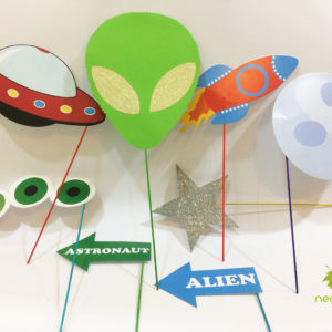 aliean theme party photobooth props