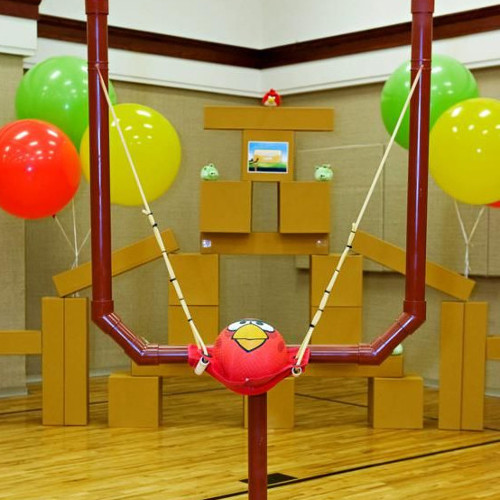 angry bird game for birthday party and corporate events in delhi, gurgaon, noida and faridabad